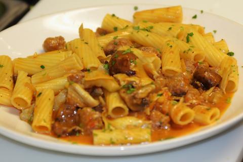 Rigatoni Contadina atMattone Restaurant + Bar,9 E 31st St, La Grange Park, IL 60526.