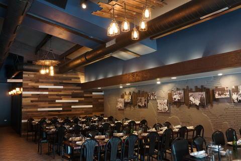 The banquet area atMattone Restaurant + Bar,9 E 31st St, La Grange Park, IL 60526.
