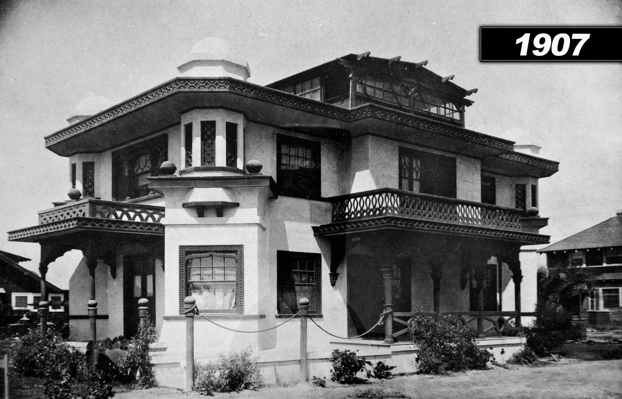 The two-family Venice property, built in 1905, is an example of the Islamic-Byzantine architectural