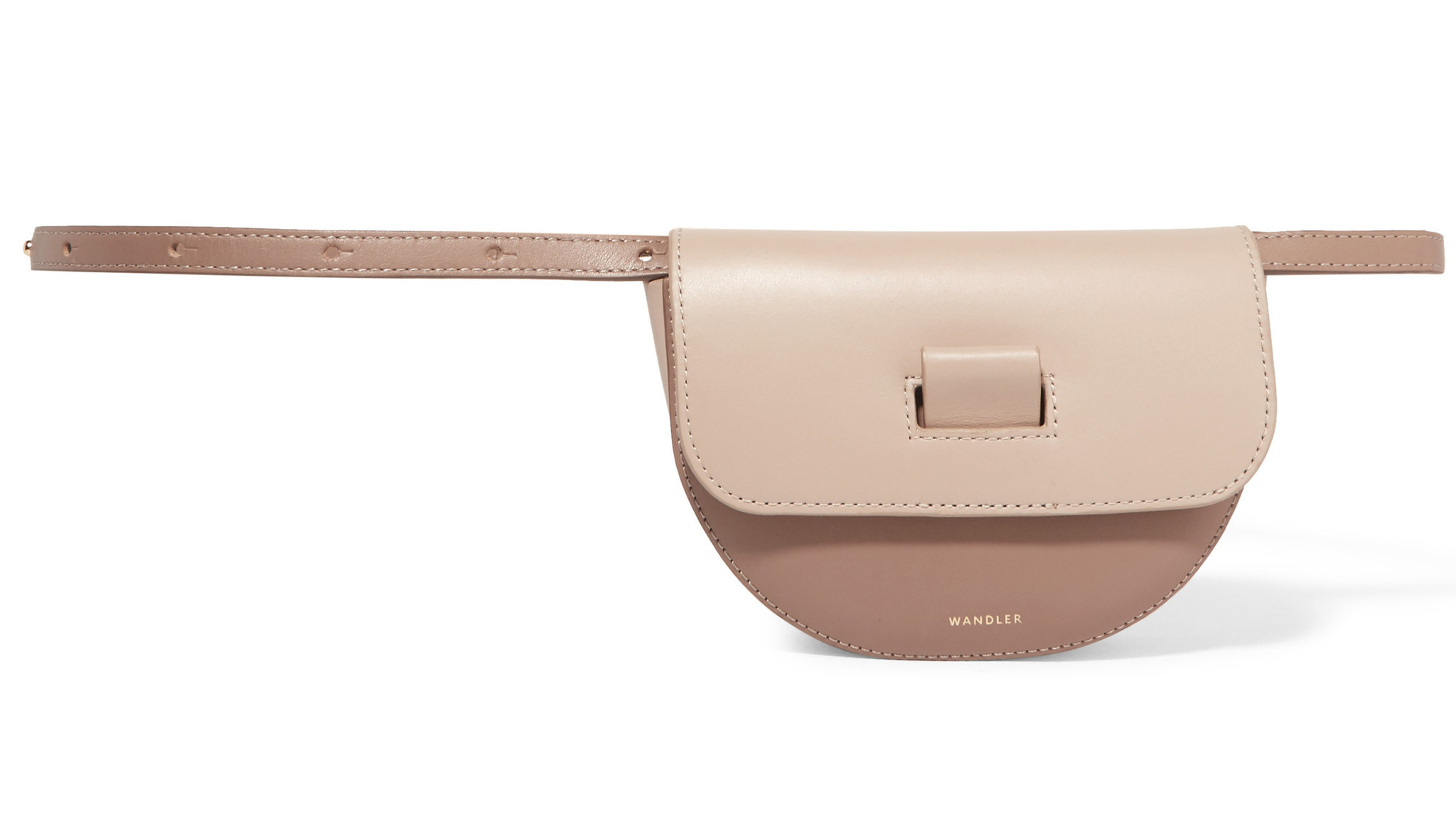 Wandler's Anna two-tone leather belt bag.