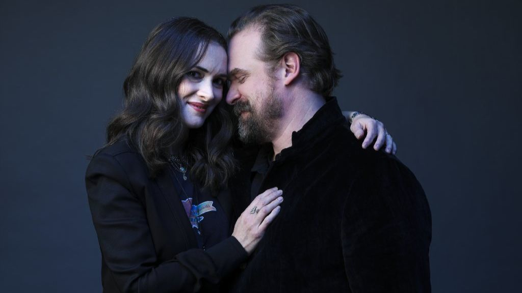 Winona Ryder and David Harbour.