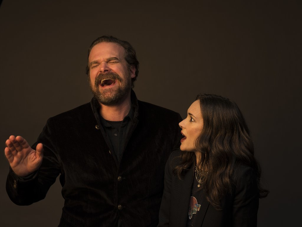 David Harbour and Winona Ryder.
