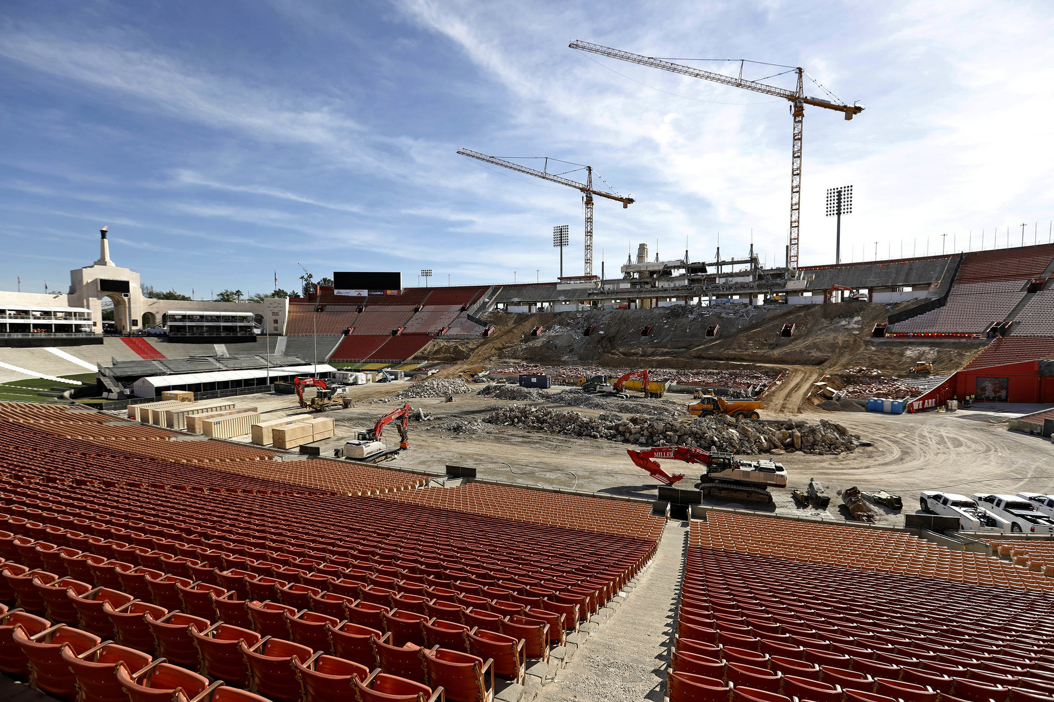 Jan. 29, 2018: Renovation work in progress at the United Airlines Memorial Coliseum.