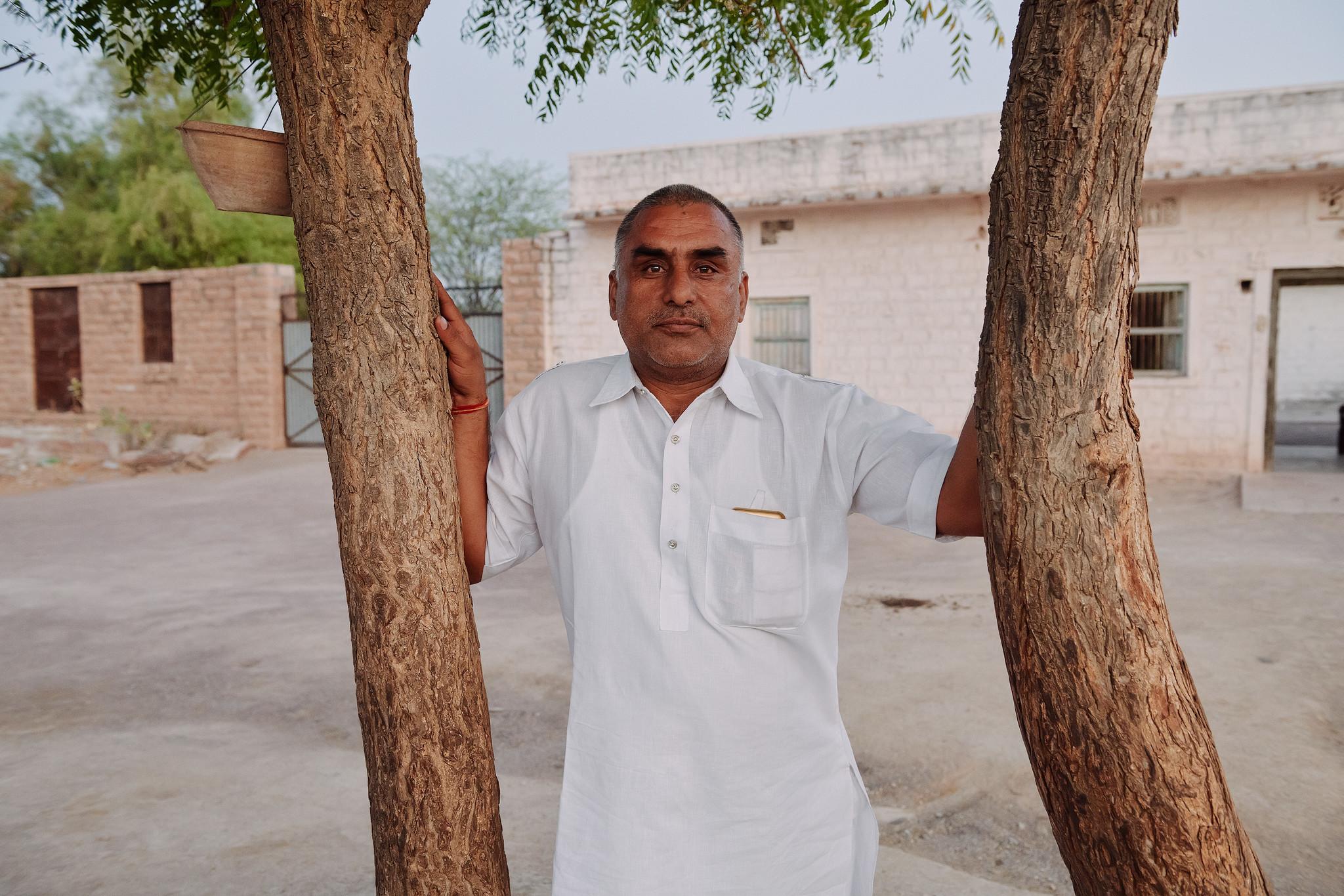 Hanuman Bishnoi in village Guda Vishnoiyan near Jodhpur, Rajasthan.