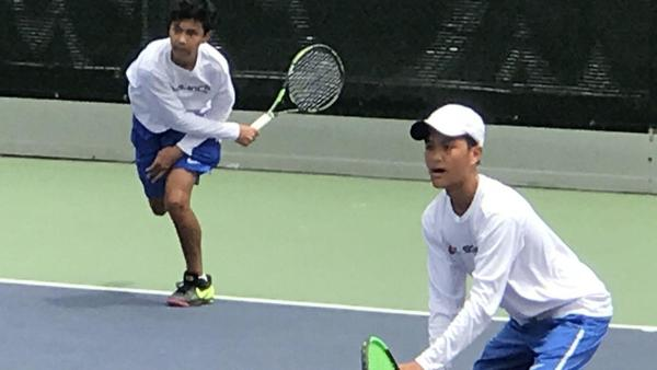 Twins are double trouble for tennis opponents