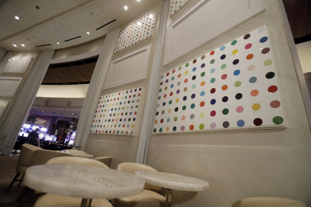 The Unknown Bar, at the Palms Casino Resort, also features Damien Hirst's spot paintings.