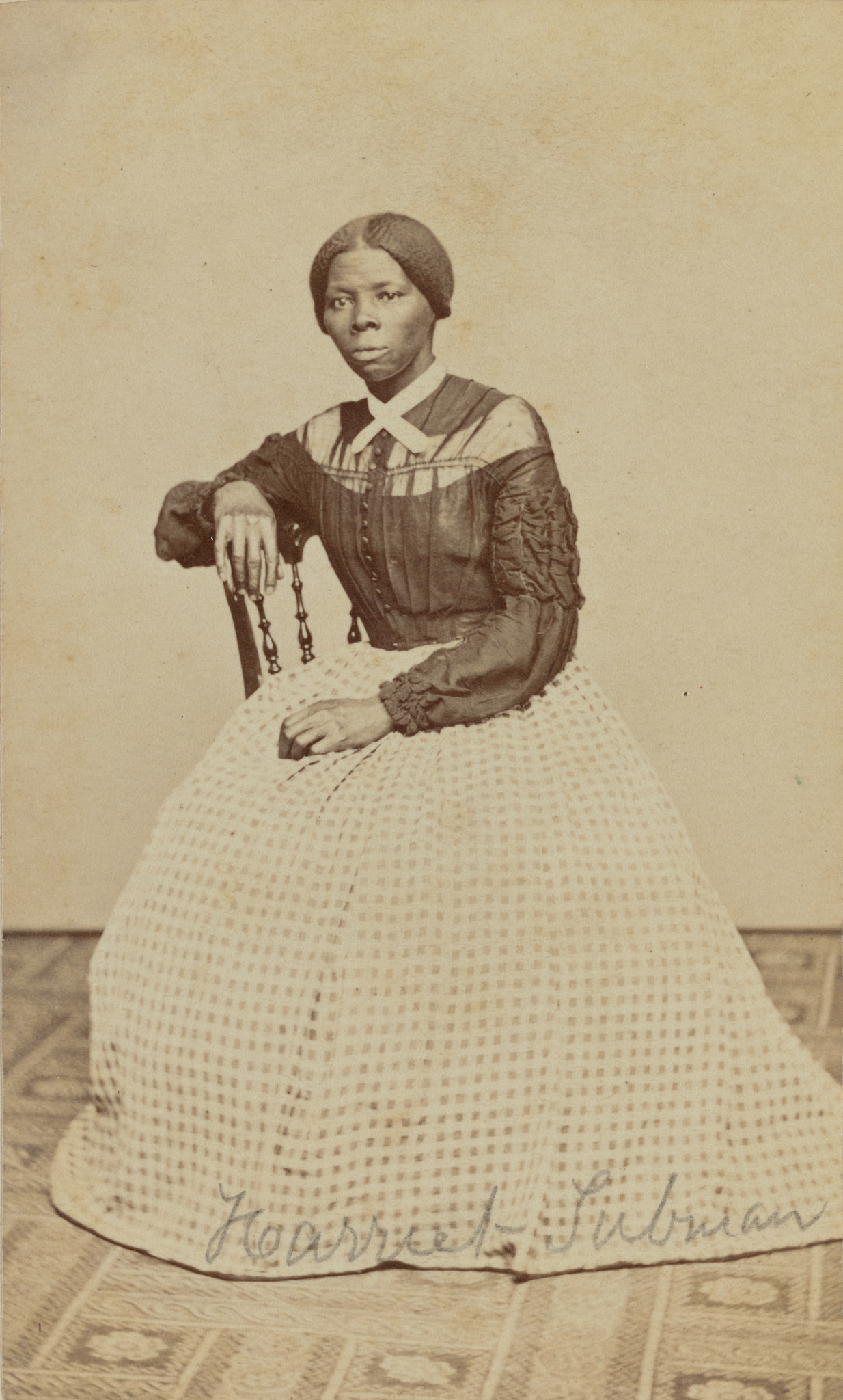 Benjamin F. Powelson. Harriet Tubman; a hitherto unknown carte-de-visite in the Emily Howland photog