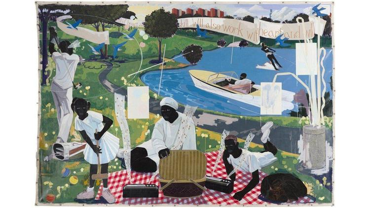 P Diddy Buyer 21 million usd auction Kerry James Marshall Past Times