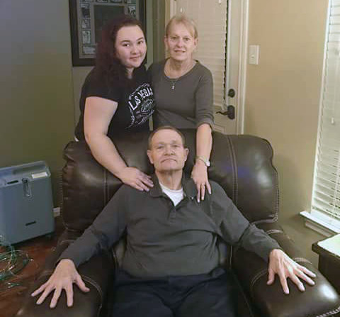 Texas shooting victim Cynthia Tisdale, top right, with her husband and niece