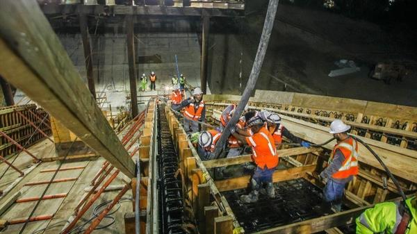 Mid-Coast Trolley construction forces overnight closures on I-5 through May | San Diego Union Tribune
