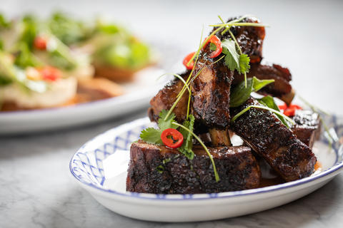 Glazed short rib.
