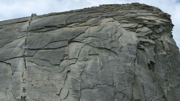 Hiker dies after fall from Half Dome cables in Yosemite