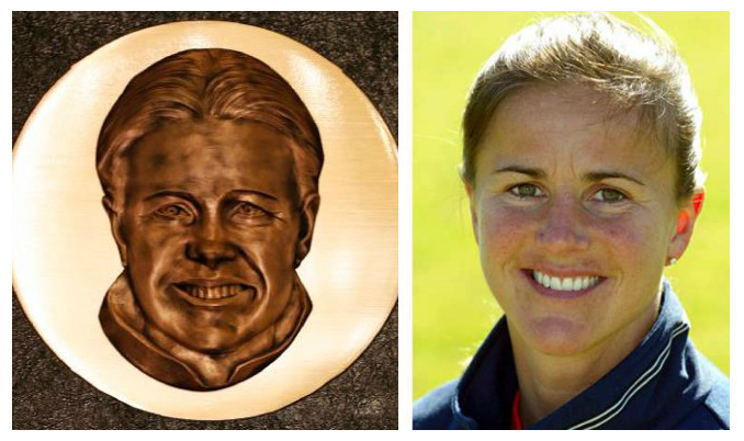 Brandi Chastain plaque comparison