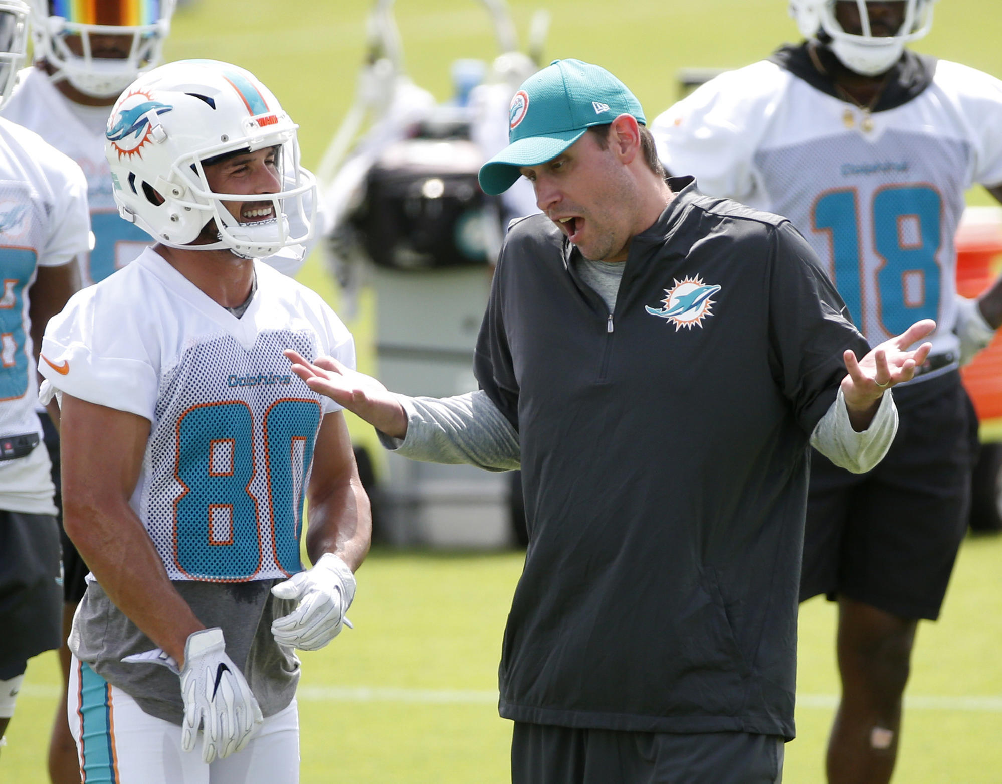 dd8908080 New Dolphins slot receiver Danny Amendola s intensity apparent on Day 2 of  OTAs – USA Breaking News