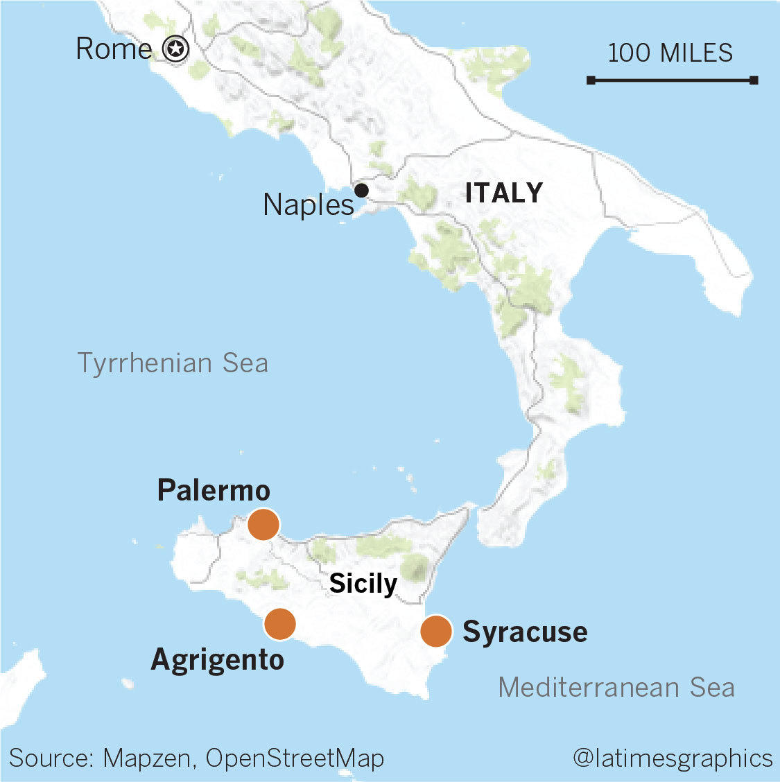 Avoiding pain and finding only pleasure in Sicily - Los Angeles Times