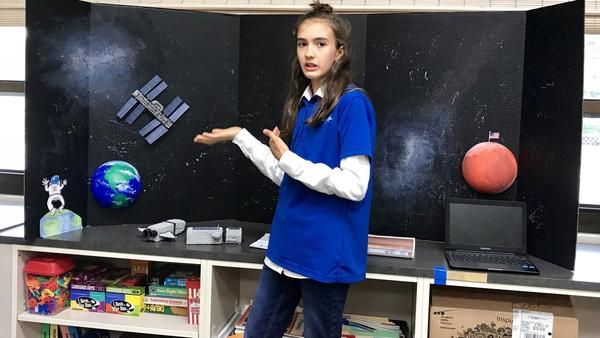 Skokie 7th grader wins national prize for designing space station for travel to Mars | Chicago Tribune