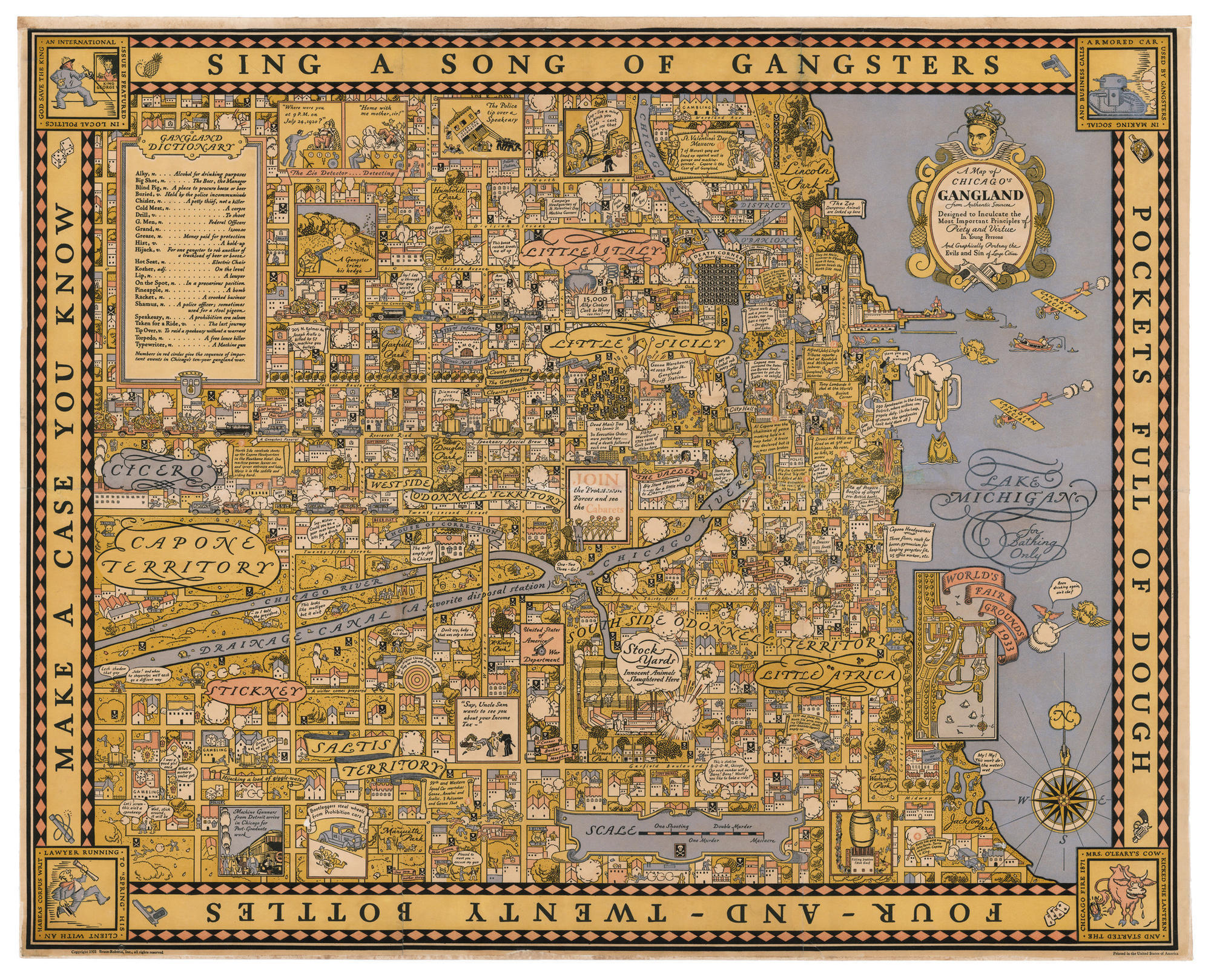 A Rare Map Of Chicagos Gangland Could Be Yours For - Rare old maps for sale