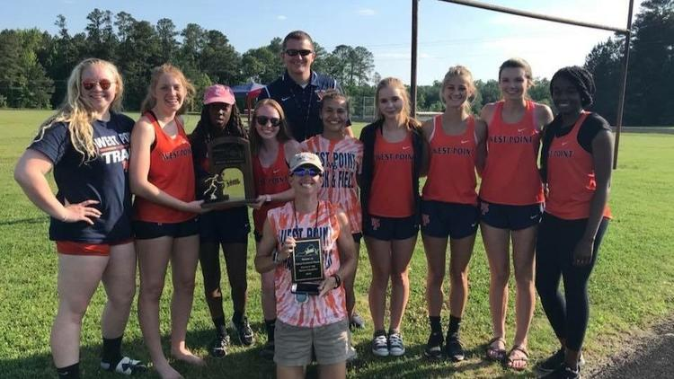 West Point Girls Win Region Track & Field