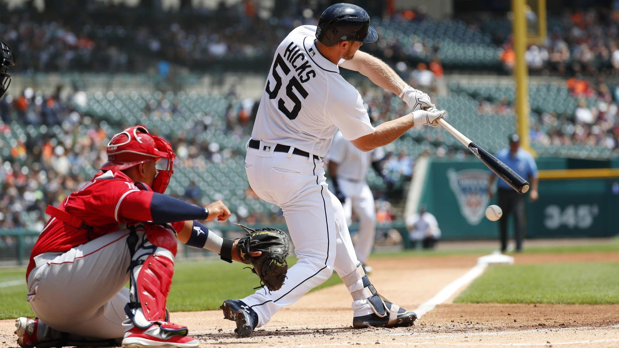 Heaney knocked around as Tigers score early to beat the Angels 6-2