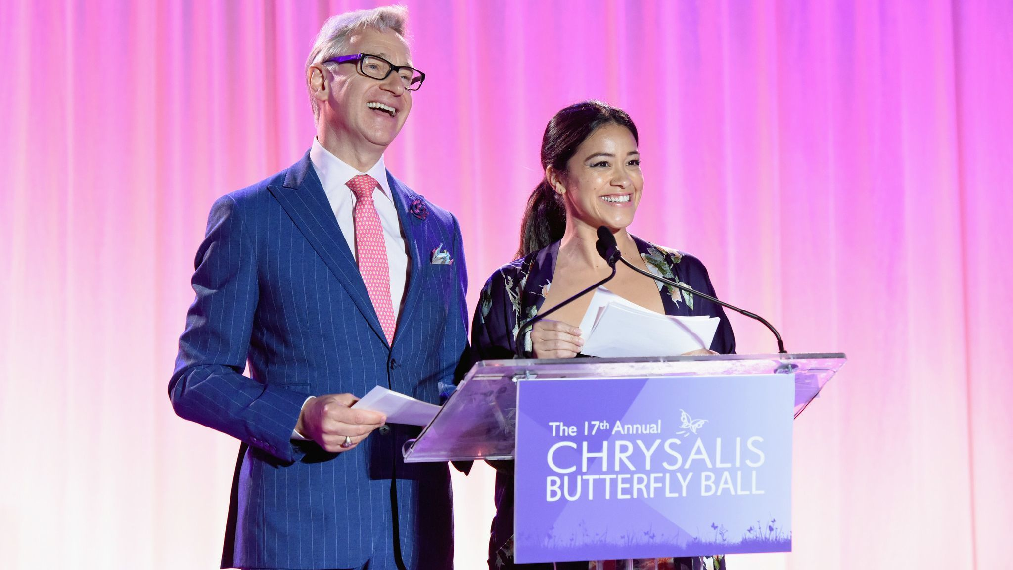 Paul Feig and Gina Rodriguez