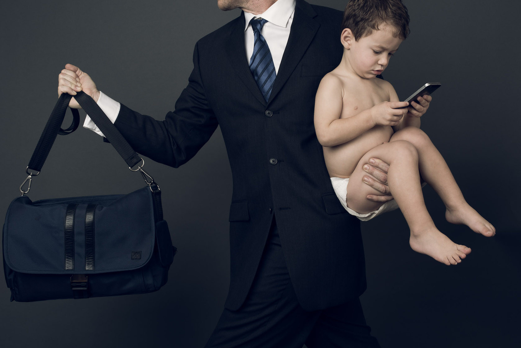The Ellison Diaper Bag from from E.C. Knox.