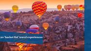 20 'bucket list' travel experiences