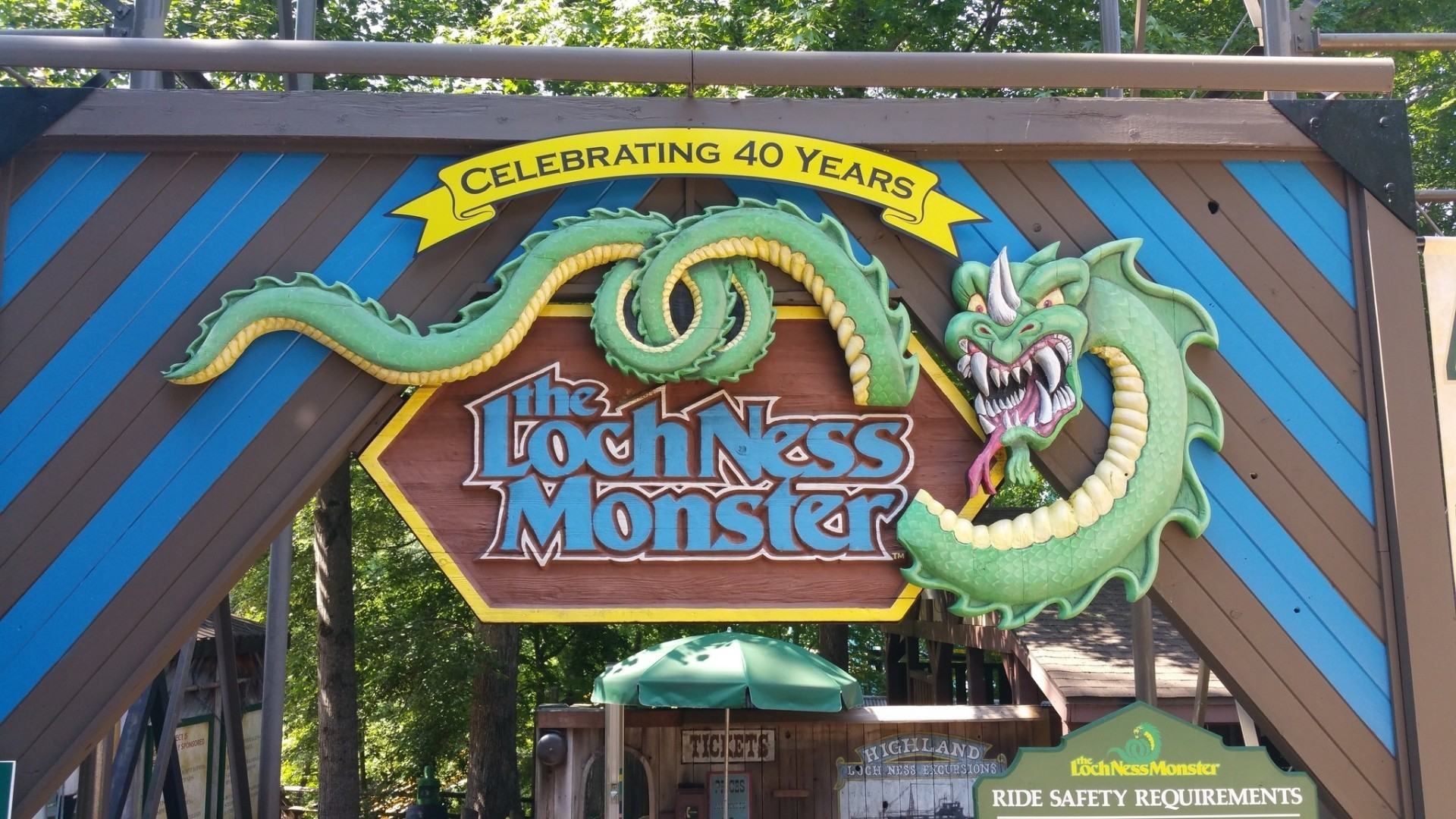 Busch Gardens Williamsburg Celebrates 40 Years Of The Loch Ness Monster Roller Coaster The San