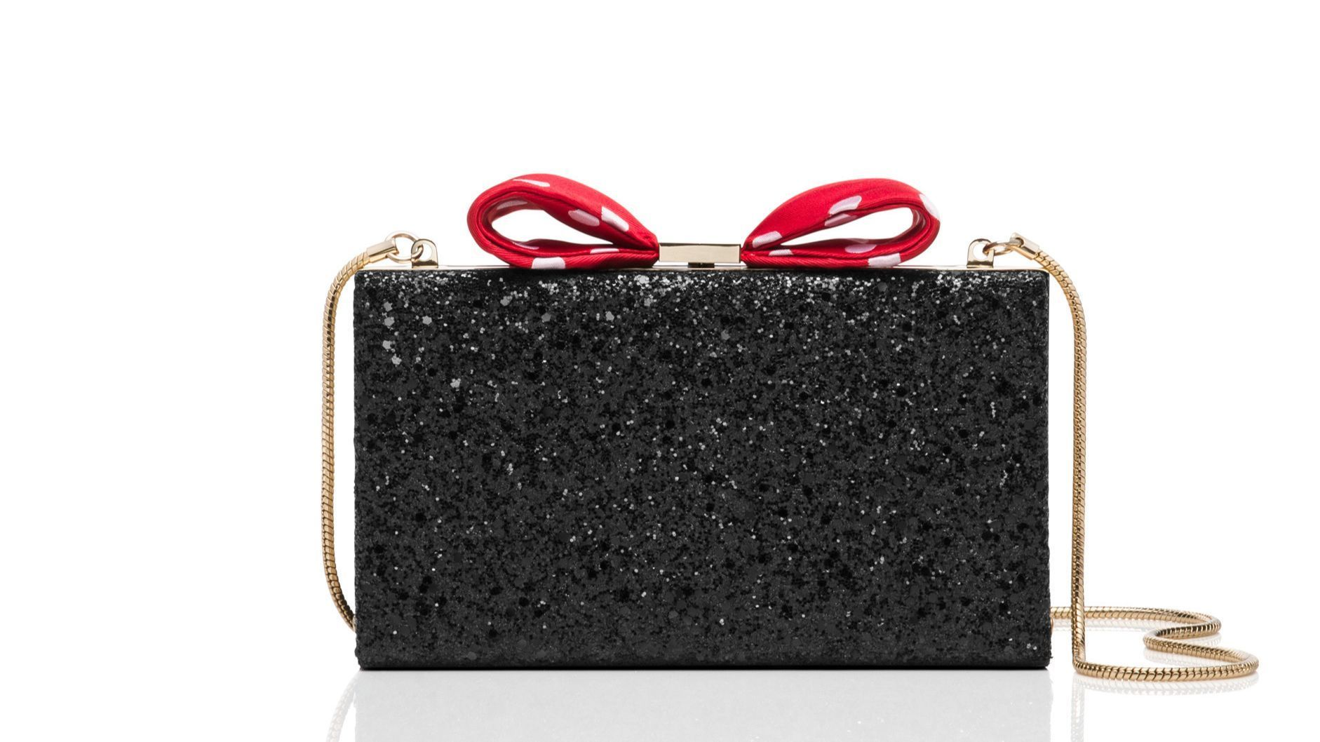Minnie Bow Clasp, $328.00 - Kate Spade New York brings Minnie's style to life with unique glitter bo