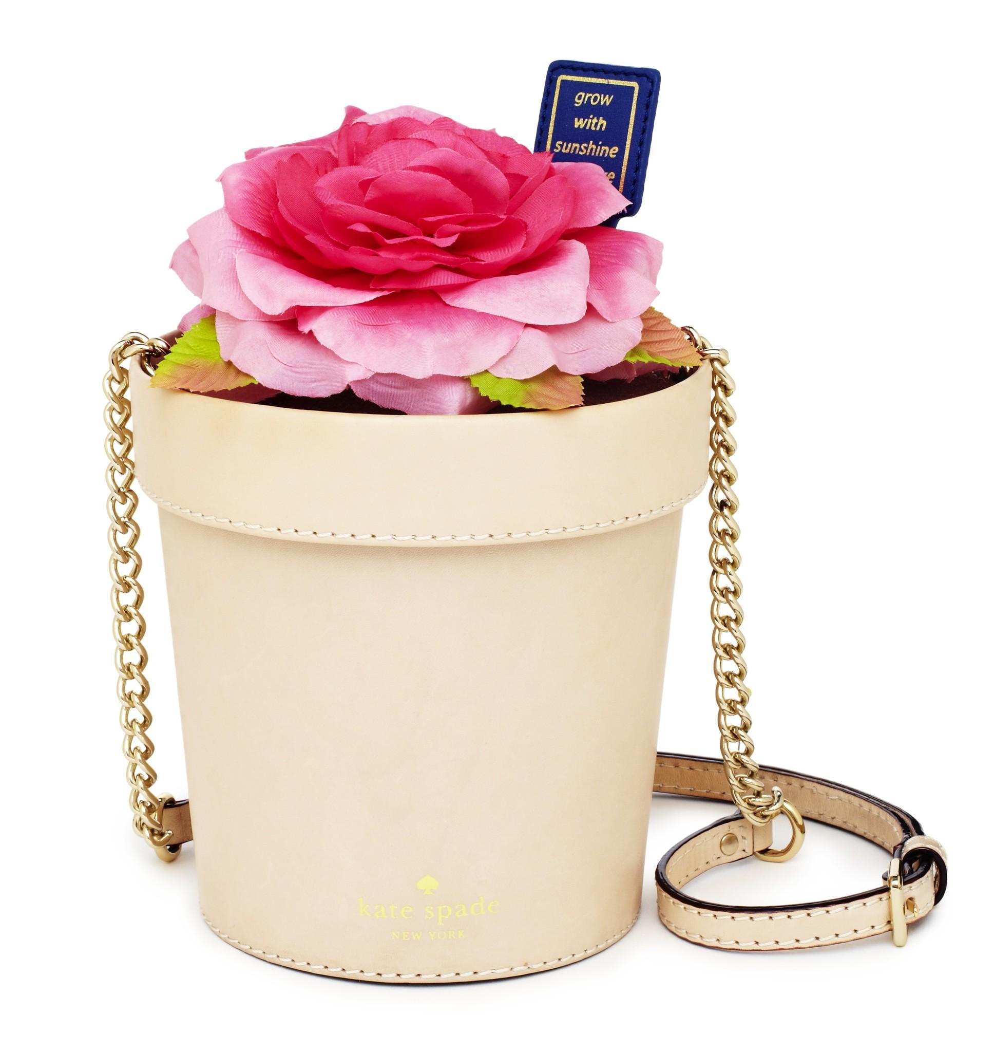 Kate Spade New York vachetta leather Spring Forward flowerpot cross-body bag, $328 at katespade.com