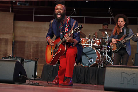 Fantastic Negrito performs at the Chicago Blues Festival at the Jay Pritzker Pavilion in Chicago on June 10, 2018.