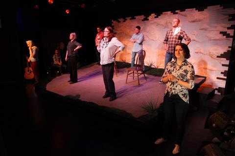 Sara Pavlak McGuire,Peter SurmaandRob FrankelinAstonRep Theatre Company'sproduction ofThe Laramie Projecton stage through July 8, 2018 at the Raven Theatre.