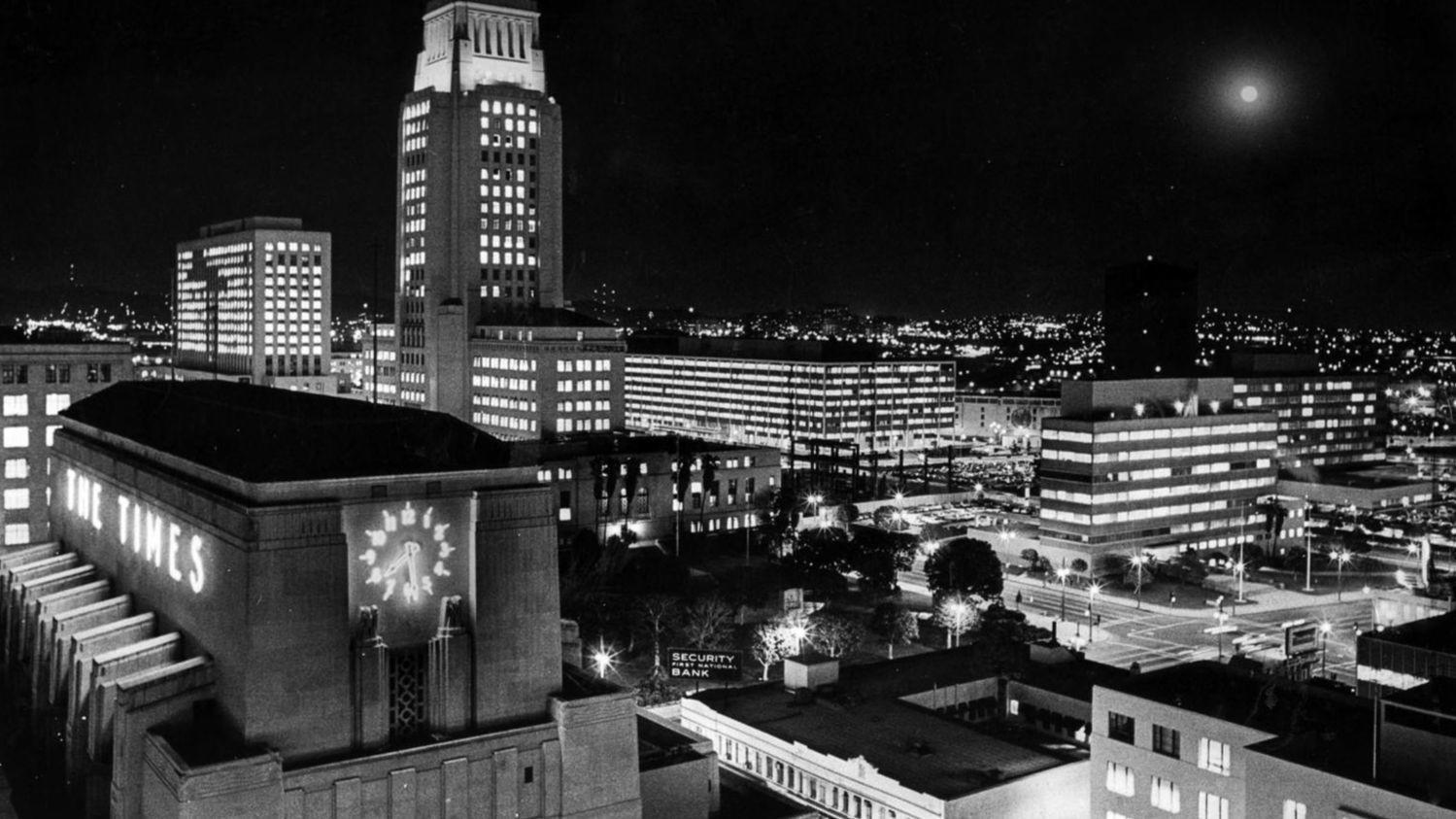 From the Archives: Los Angeles Times Building and City Hall