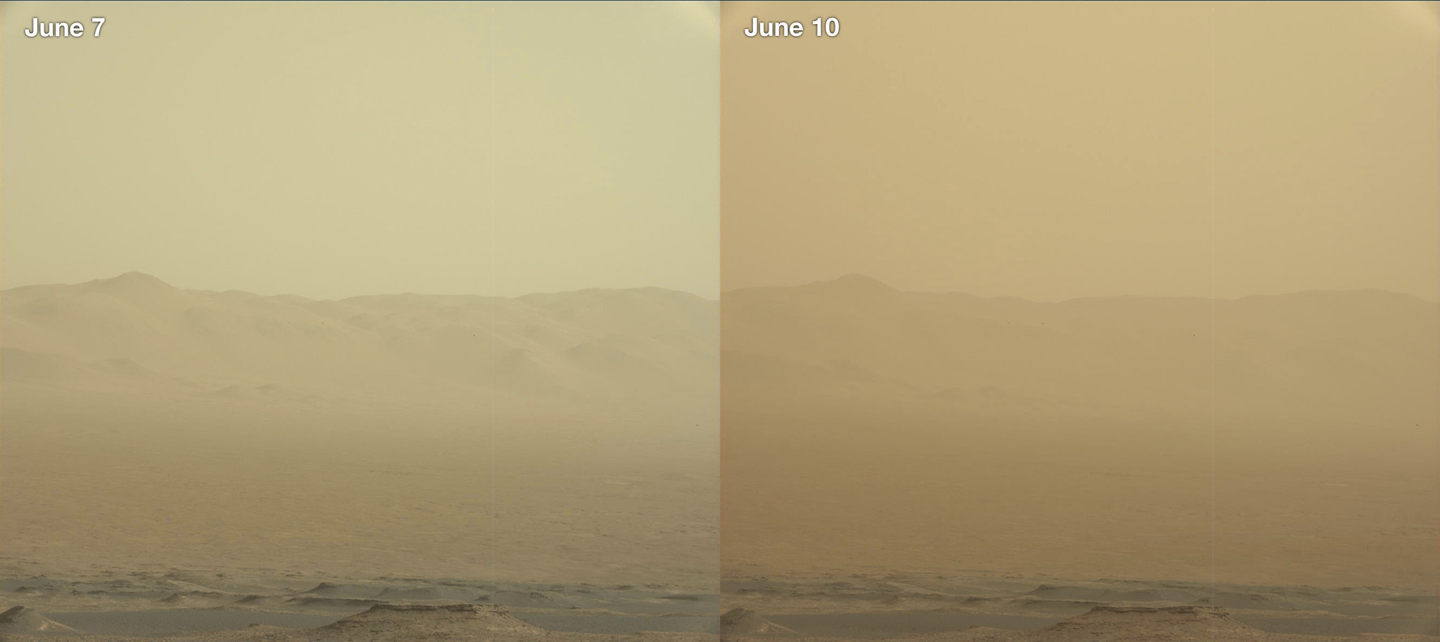 Nasa Rover Knocked Out As Gigantic Dust Storm Envelops