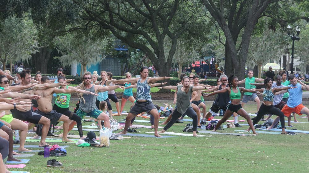 Yoga in Lake Eola celebrates 5 years