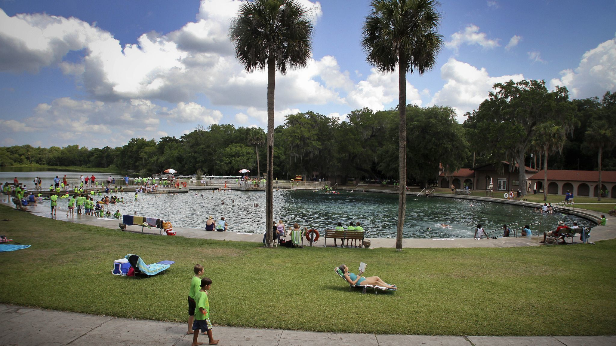swimmers enjoy the clear waters of DeLeon Springs State Park on June 9, 2011. The state is consideri