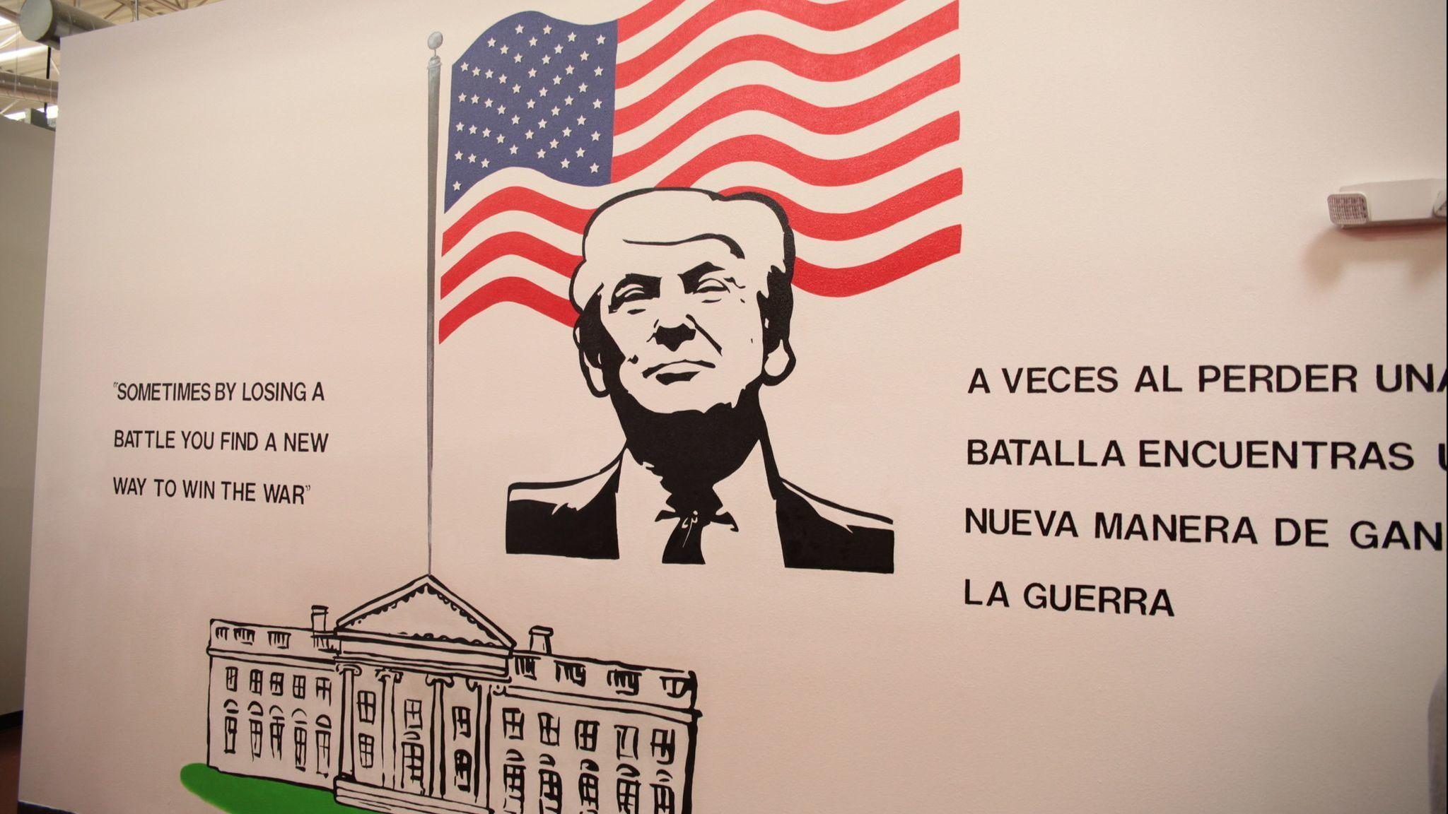 Trump mural