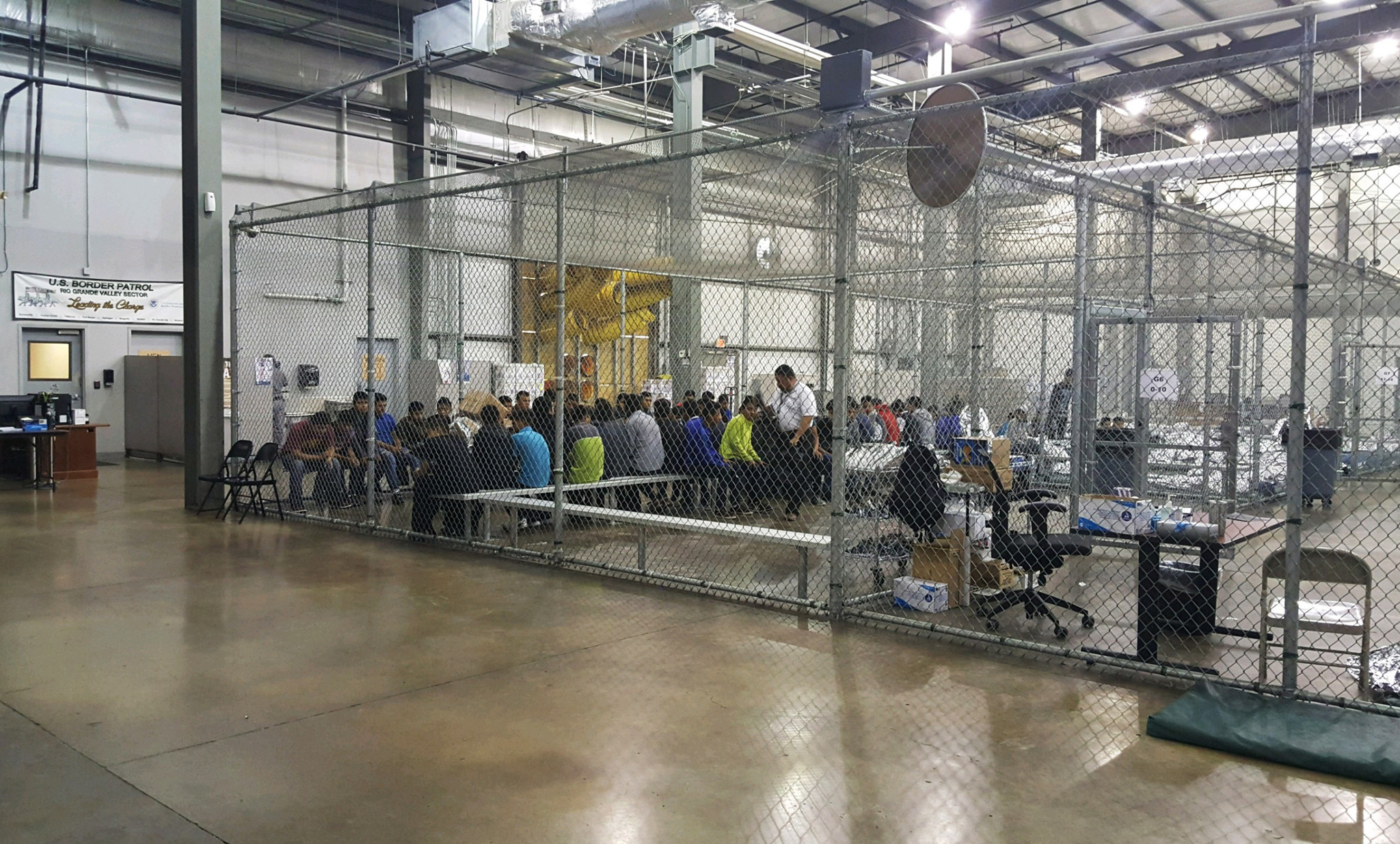 Hundreds Of Immigrant Children Are Being Held In Fenced
