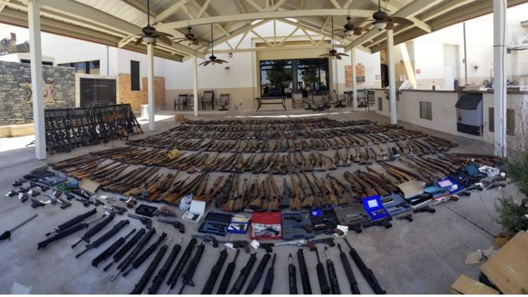 L.A. sheriff's detectives seize more than 500 firearms from felon's home