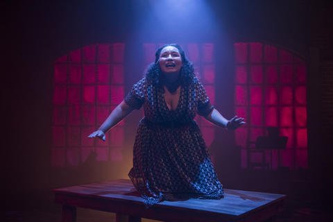 Bridget Adams-King in Haymarket, on stage through July 22, 2018.