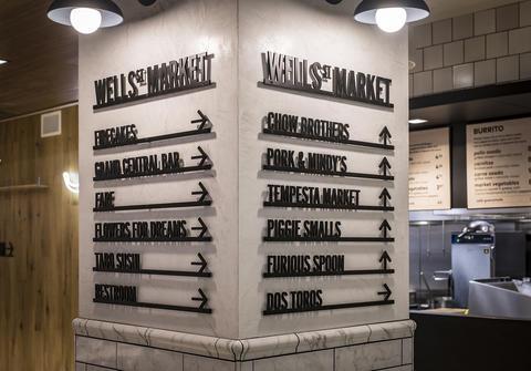 Wells St. Market.