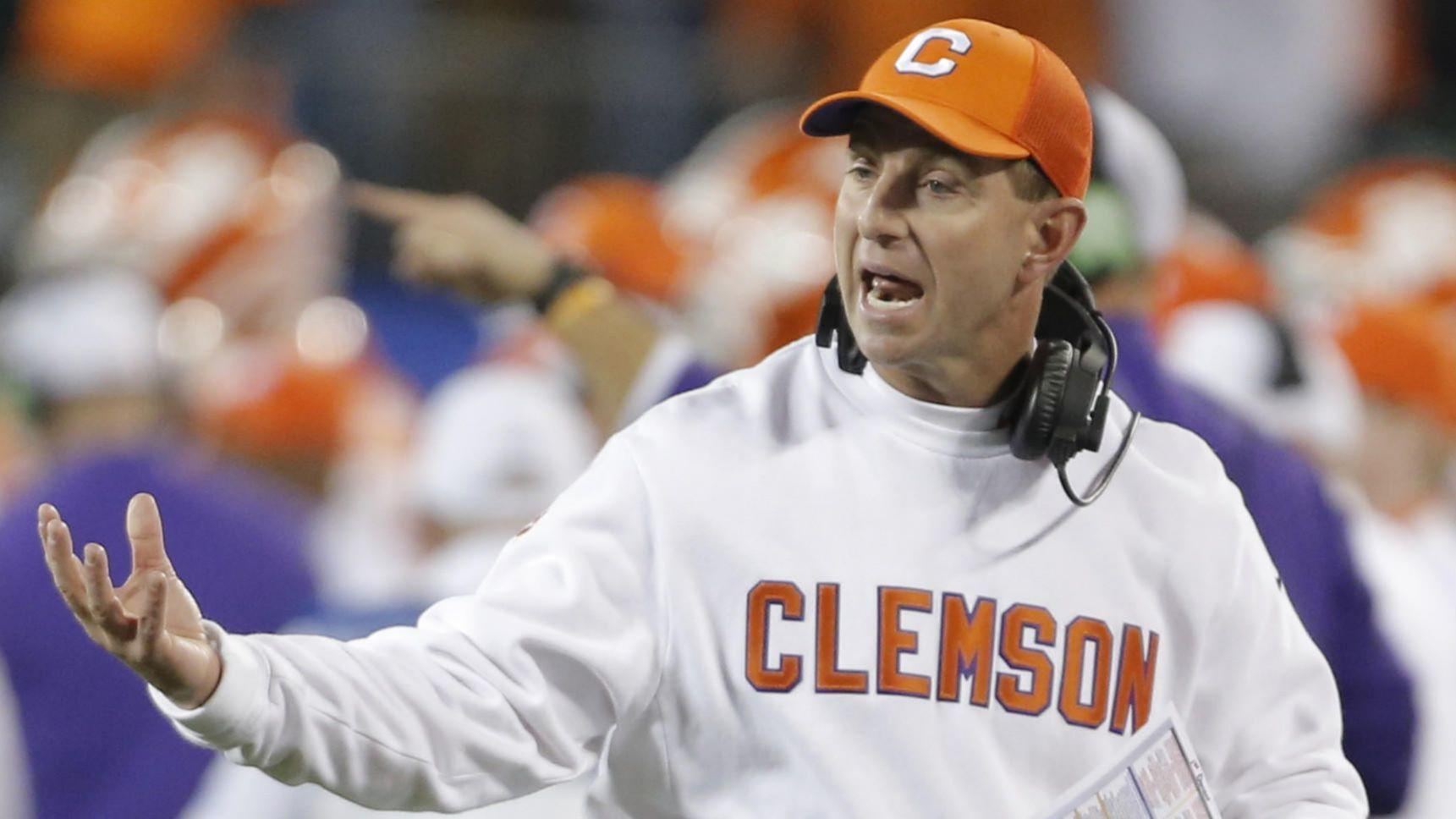 despite Clemson not  Swinney QB worried several Dabo coach