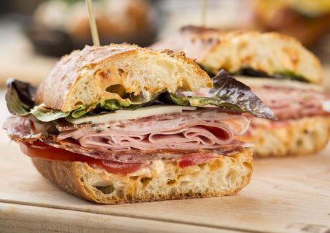 The Dante Sandwich at Tempesta insideWells St. Market.