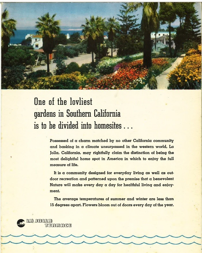Brochure for La Jolla Terrace