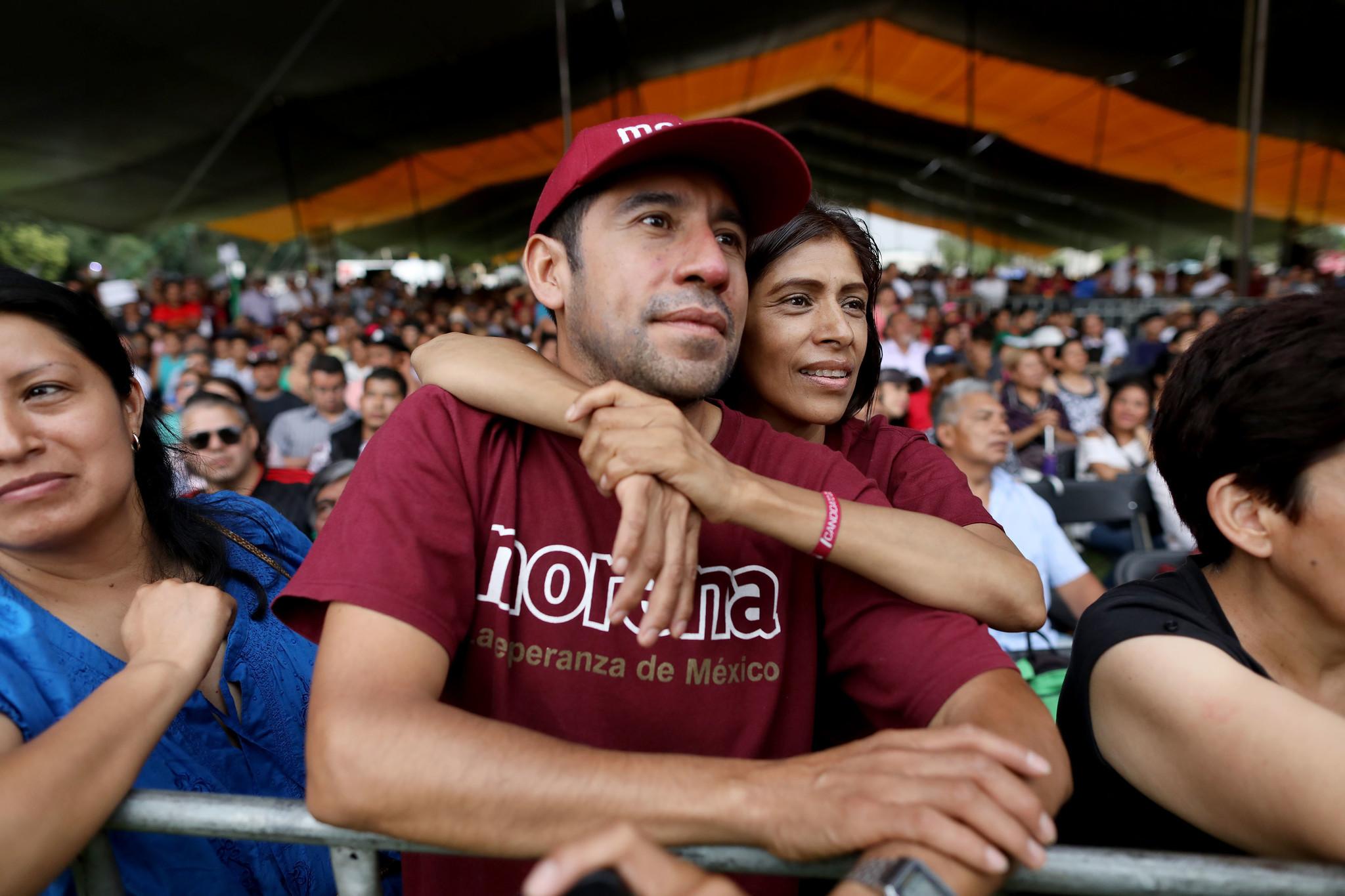 Morena campaign rally