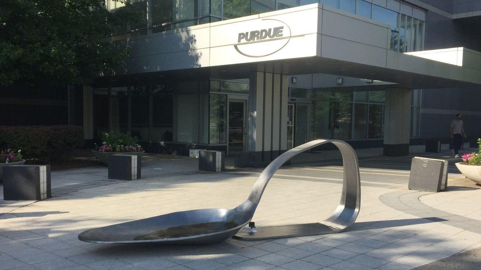 Gallery Owner Arrested After Dropping Sculpture Of Giant Drug Spoon At Purdue Pharma