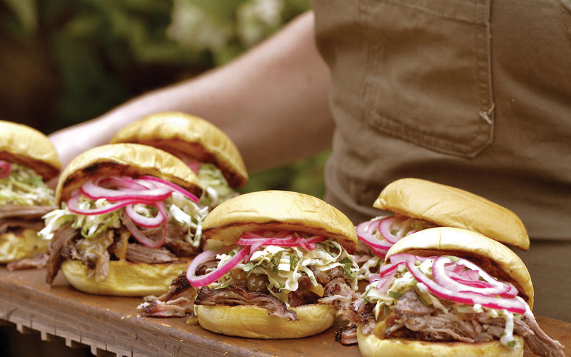 First-timer's pork shoulder sandwiches