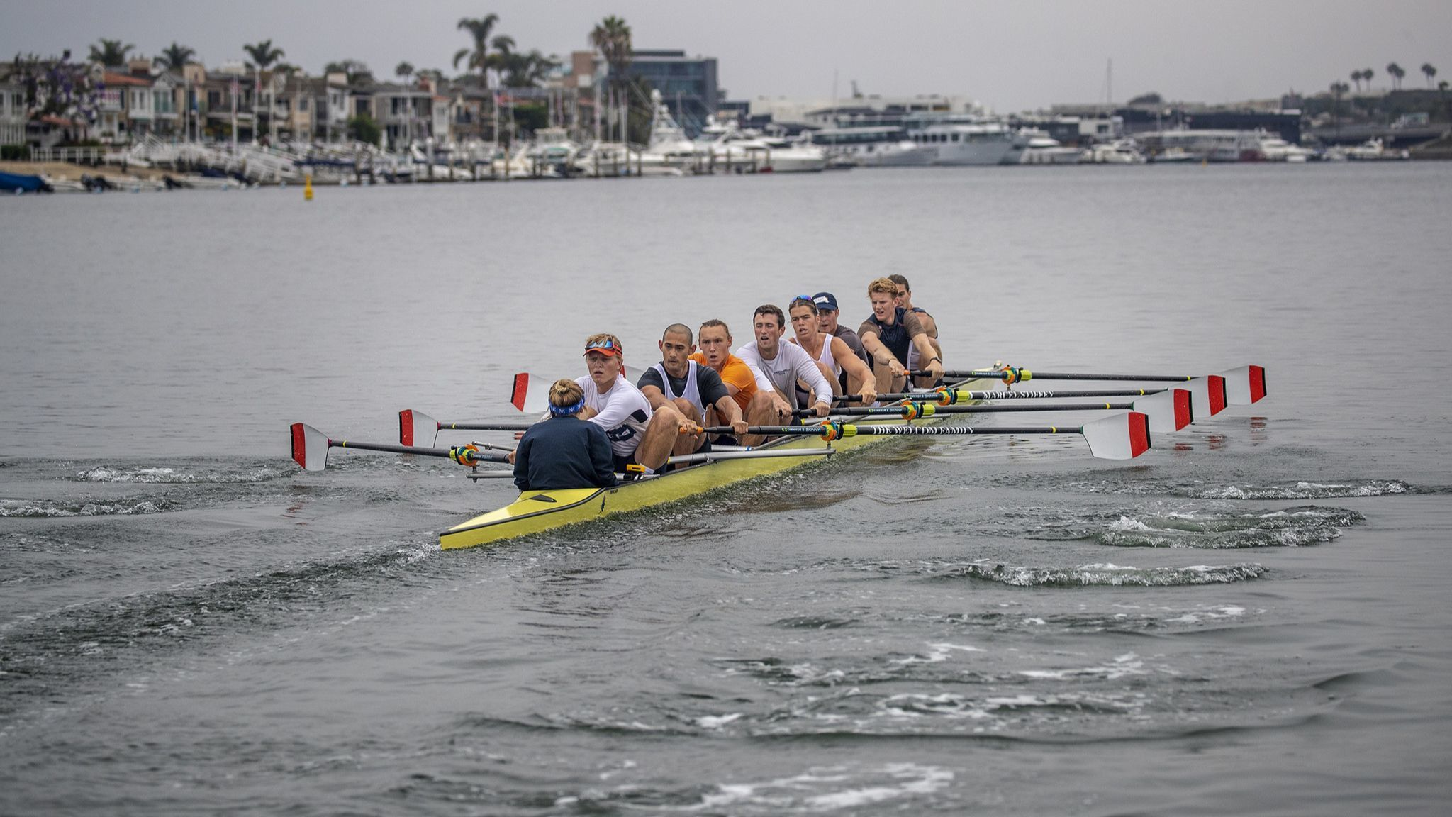 Orange Coast College's eight-man crew