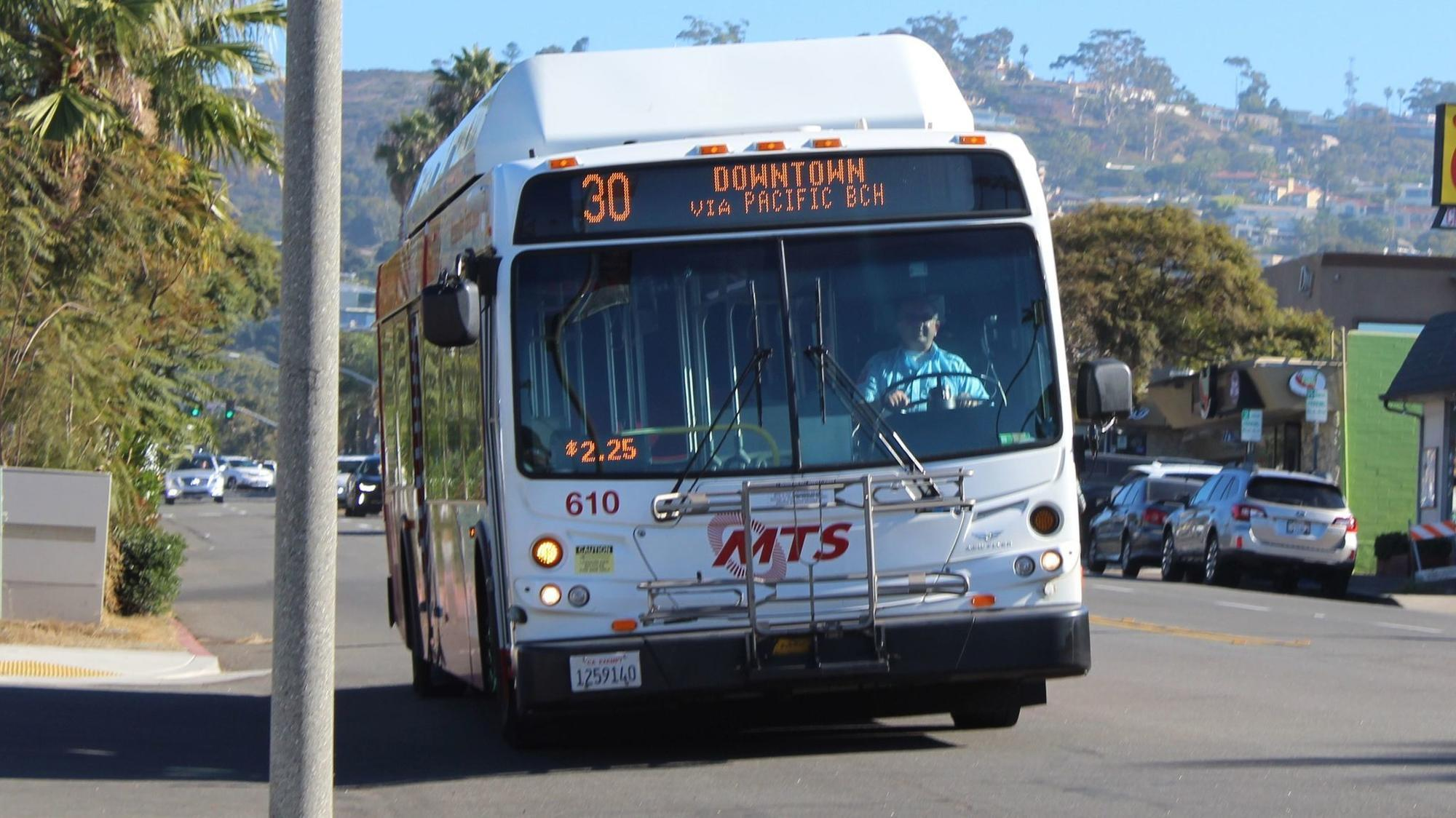 The 30 is the only bus to catch in La Jolla.