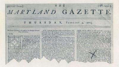 Capital Gazette newspapers in Annapolis trace their origins to 1727