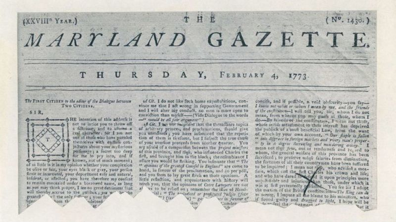 Image result for Maryland Gazette